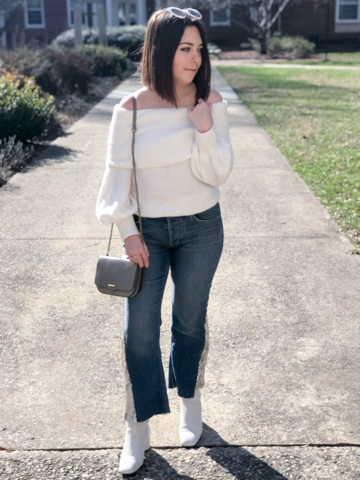 sequin flare jeans 9