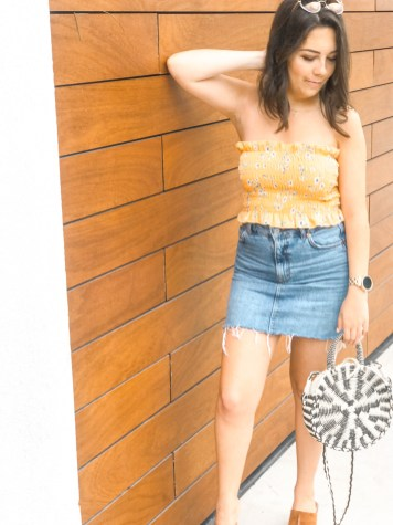 Summer Staples- Smocked Tops and Denim Minis 12