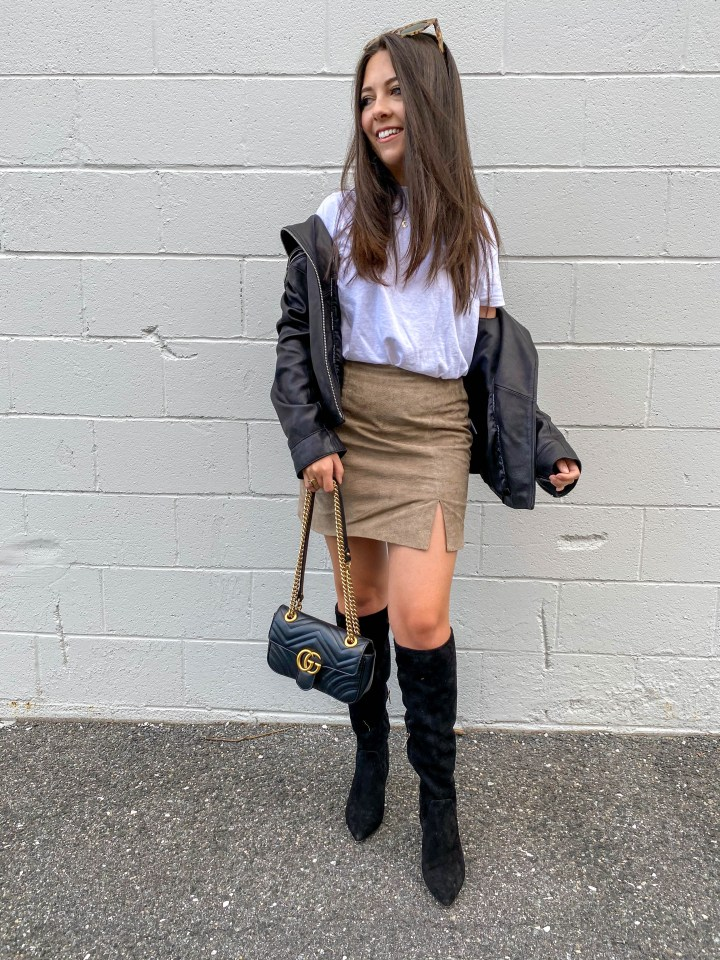 fall transition skirt