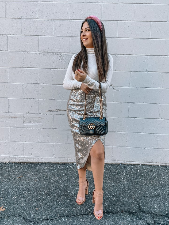 sequin NYE skirt