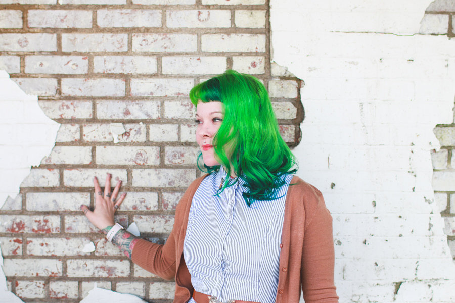 green hair, fashion blog,