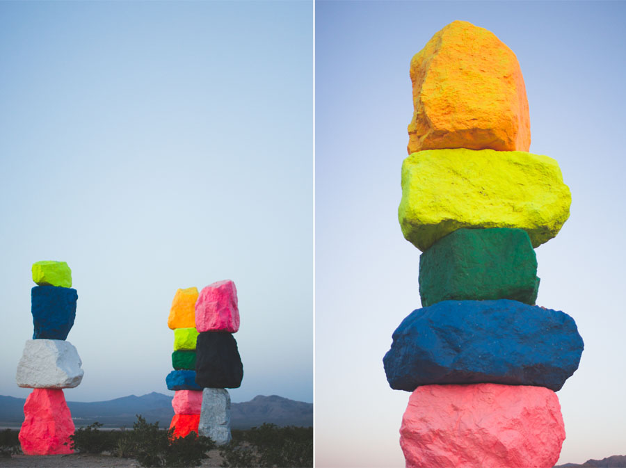 sunrise, desert art, las vegas, 7 magic mountains