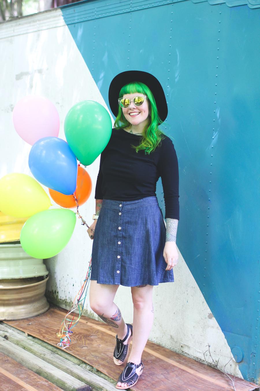 cleveland blogger, ohio blogger, cleveland, green hair