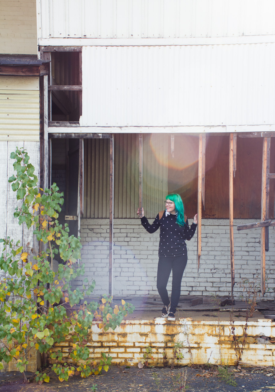 kaylah doolan, green hair, cleveland blog, fashion blog, ohio