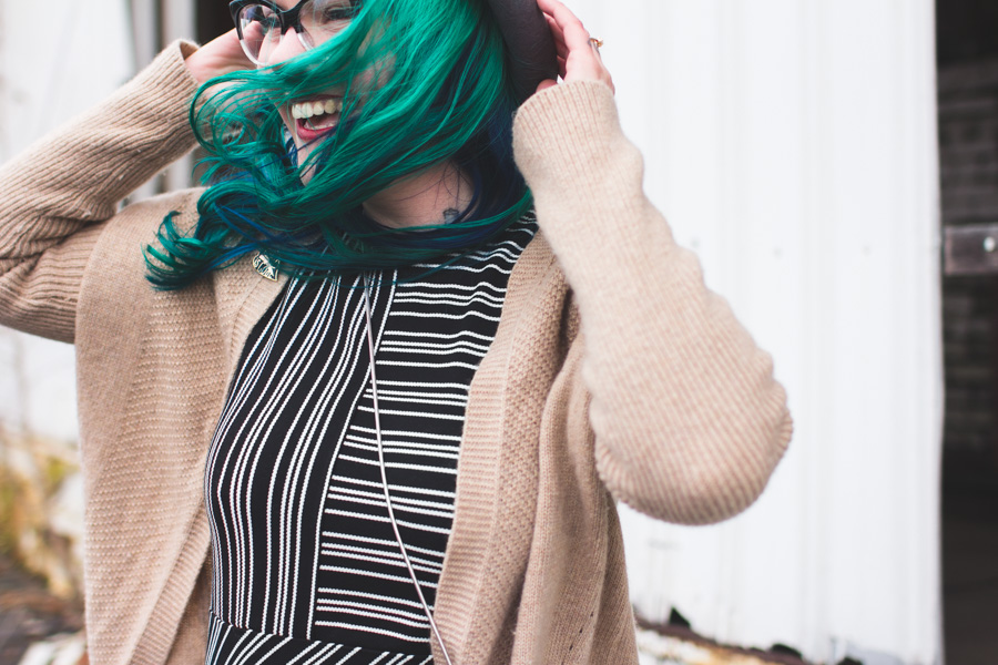 green hair, dainty squid, kaylah doolan, fashion blog, ohio