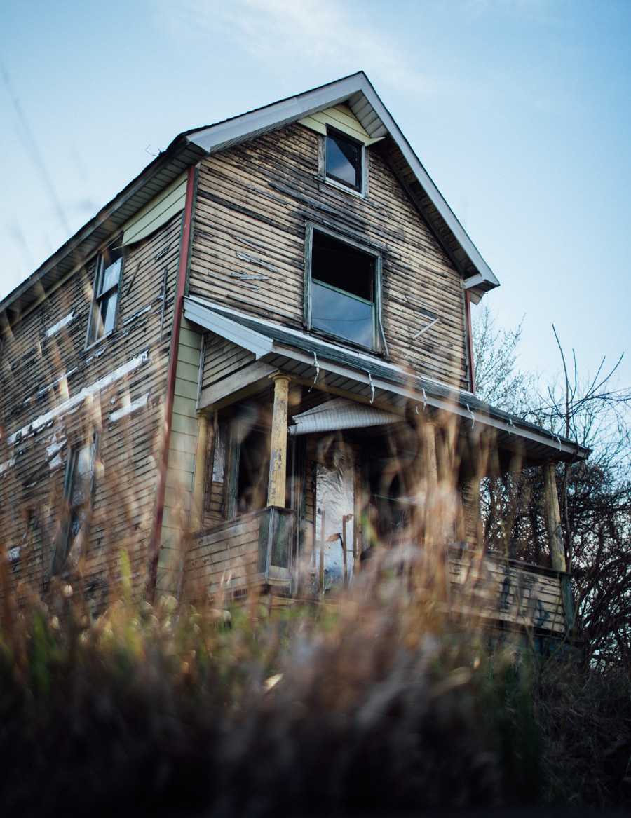 spooky abandoned house in Ohio