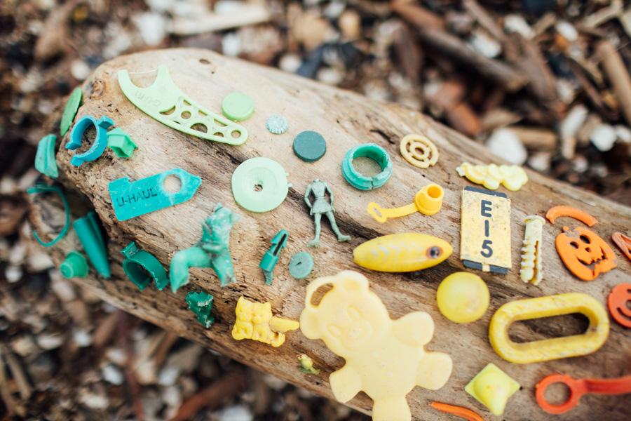 plastic found on the beach