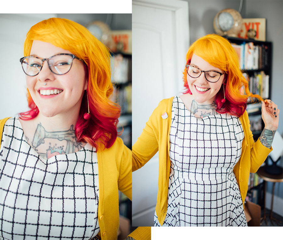 pink and yellow hair punky colours