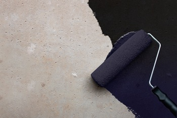 Damp proofing concrete floors with a liquid membrane