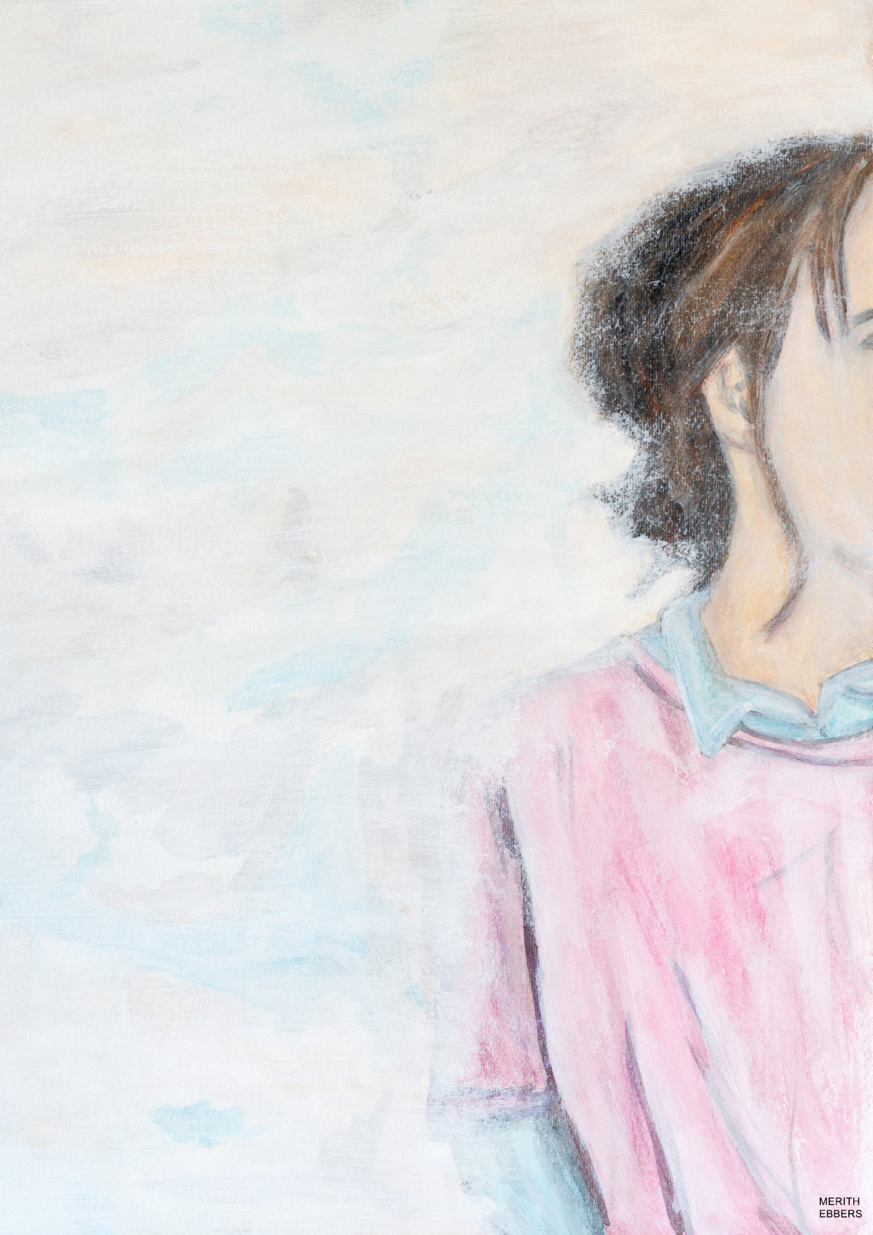 I Witness and Wait - a portrait painting inspired by Pierre Teilhard de Chardin