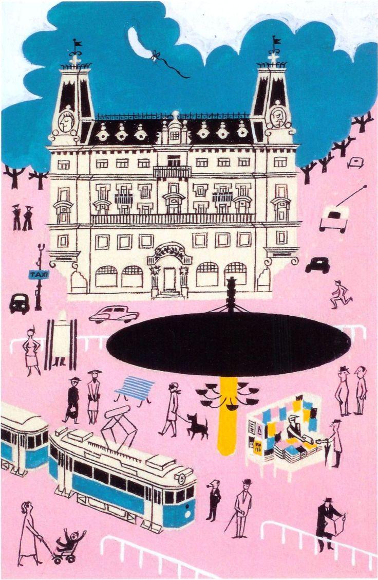 Olle Eksell Stockholm postcards