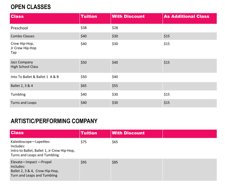 class tuition 18-19 8-30