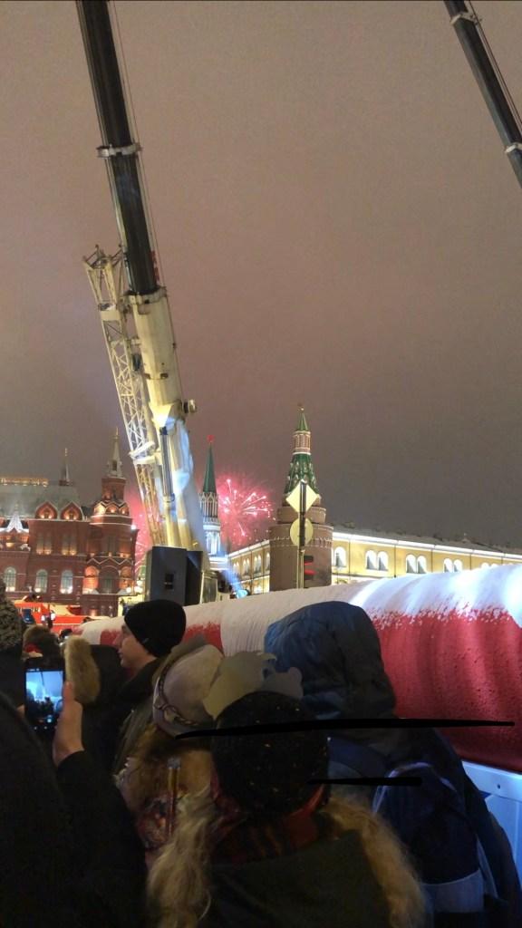 fireworks over st basils cathedral