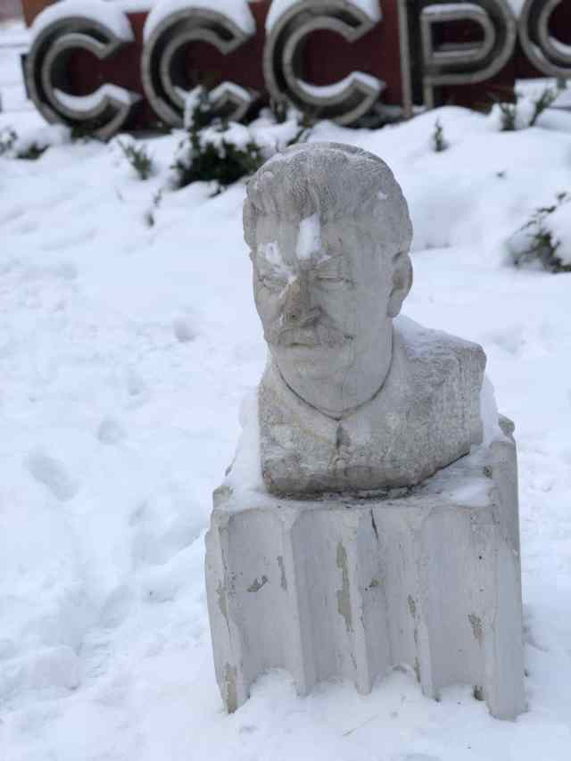 Stalins bust in Gorky Park Statue Graveyard