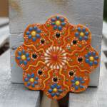 Turkish Tile Coaster Burnt Orange The Dancing Pixie