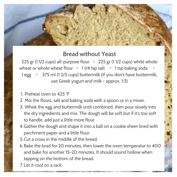 Recipe - bread without yeast-2