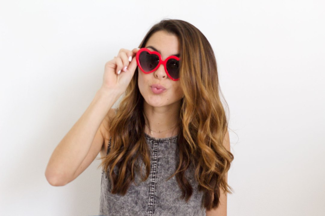valentines day heart glasses