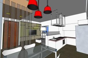 Zona pranzo nell'area cucina