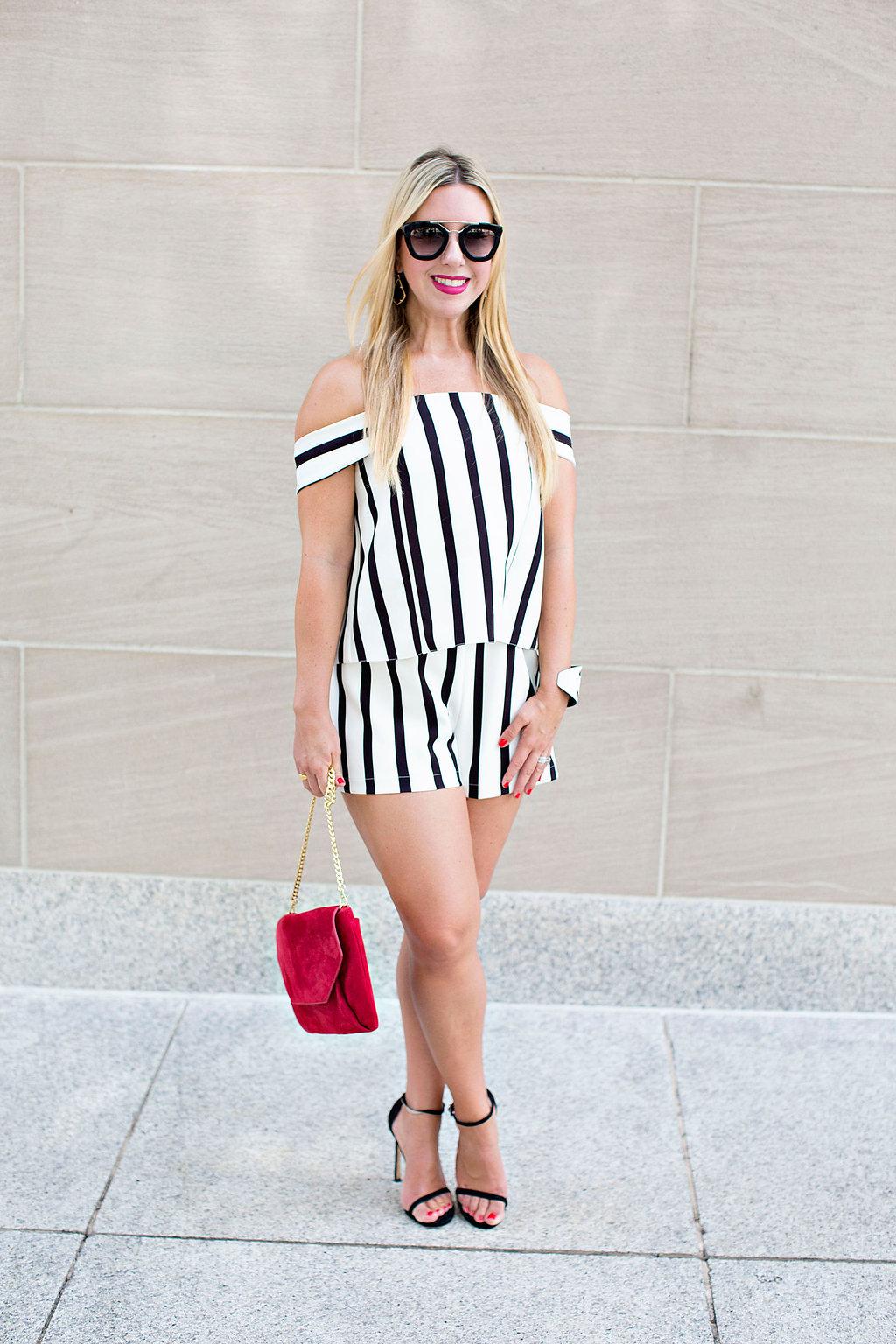 Striped Romper - The Darling Petite Diva Blog