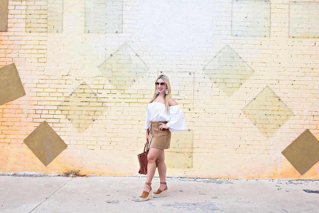 Fall Fashion - Corduroy Skirt- Nicole KIrk