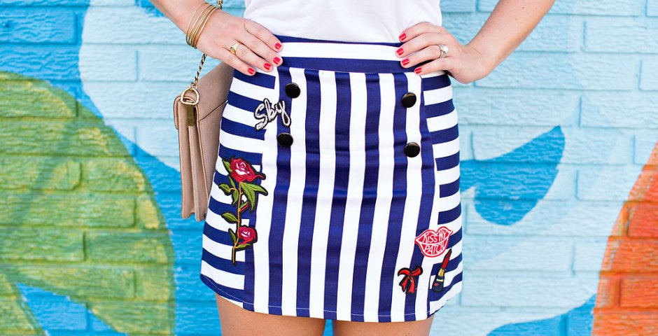 Chicwish - Kiss Me Patch Skirt- Fashion Blog