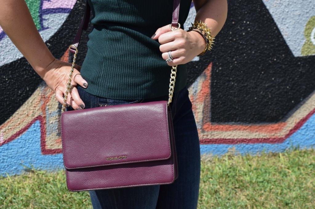 Burgundy Crossbody Bag| Fall Fashion