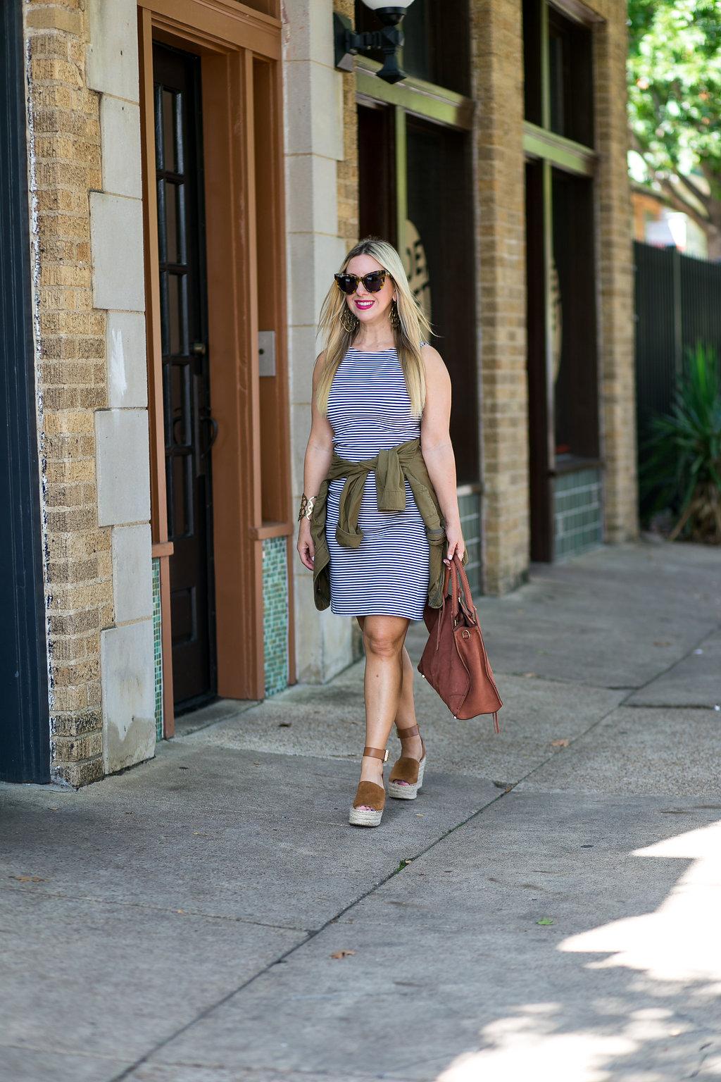 Theory Striped Dress - The Darling Petite Diva Blog