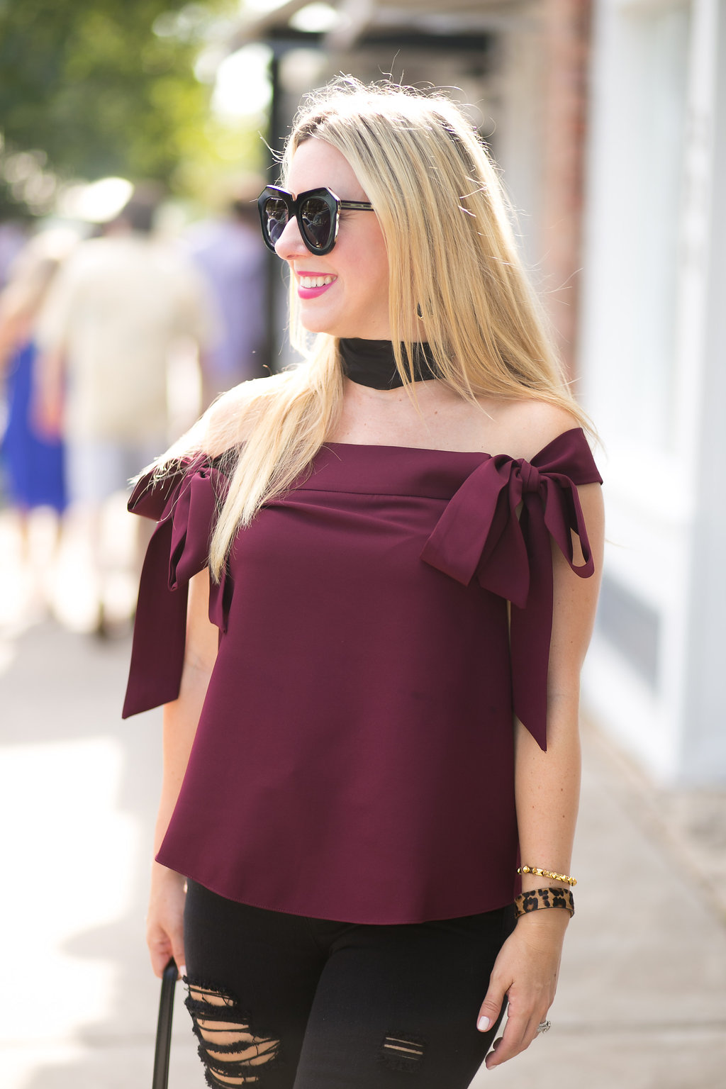 Burgundy Top | Fall | Nicole Kirk
