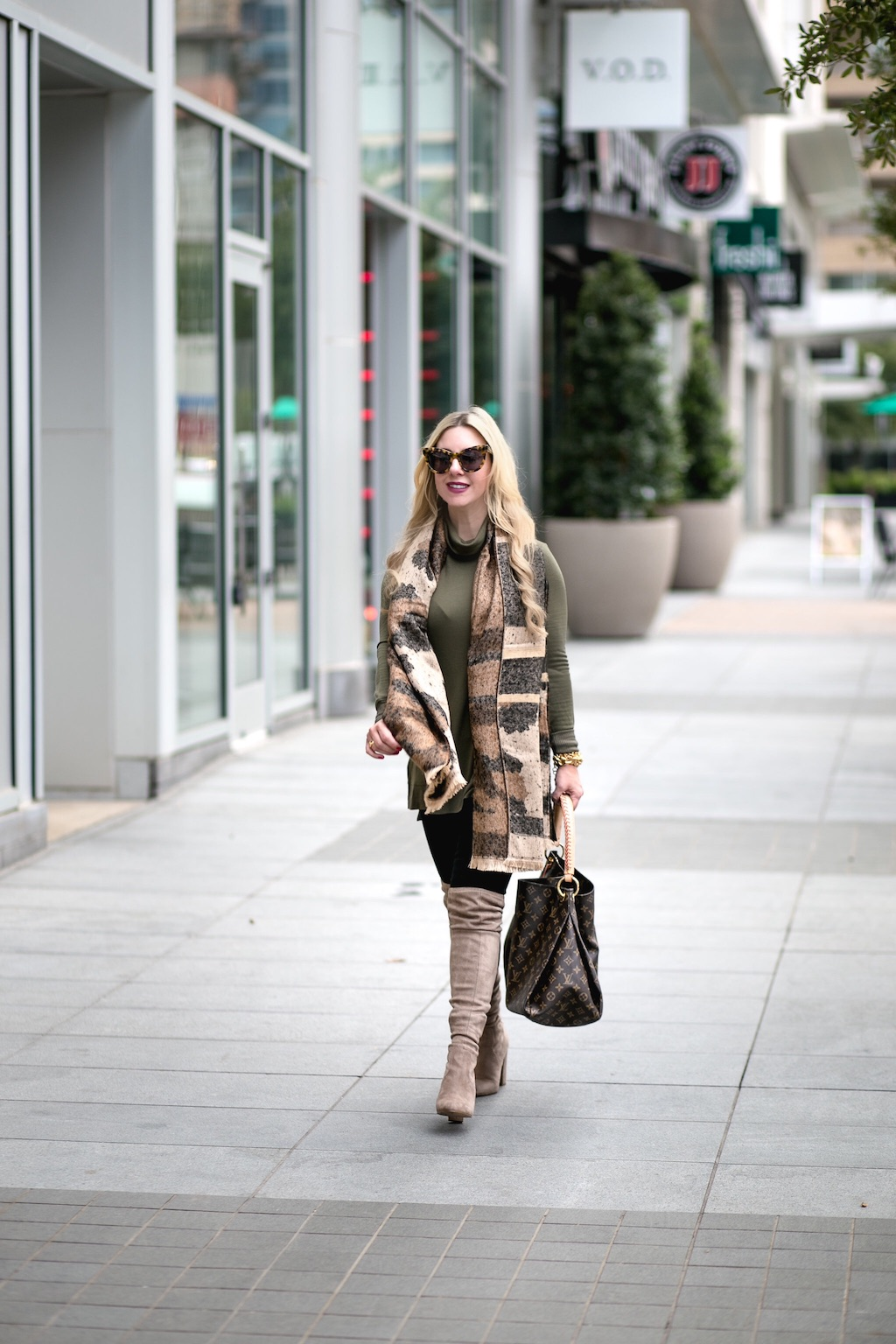 The Darling Petite Diva | Olive Green Sweater