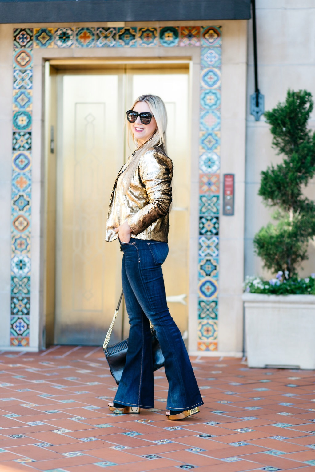 Gold Sequin + Denim | Dallas Blogger | Nicole Kirk
