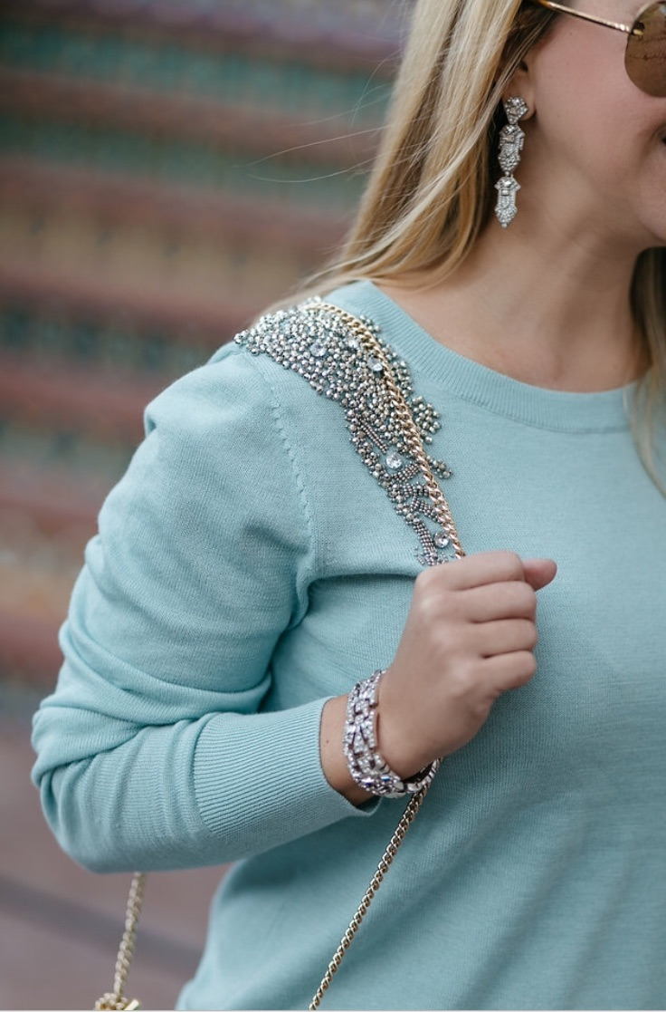 Jeweled Sweater | Embellished Sweater