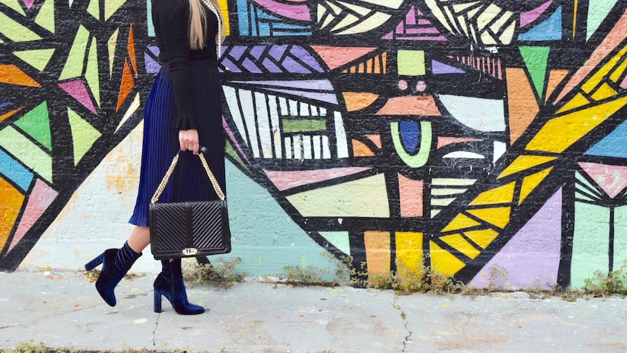 Winter Blues   Blue Skirt