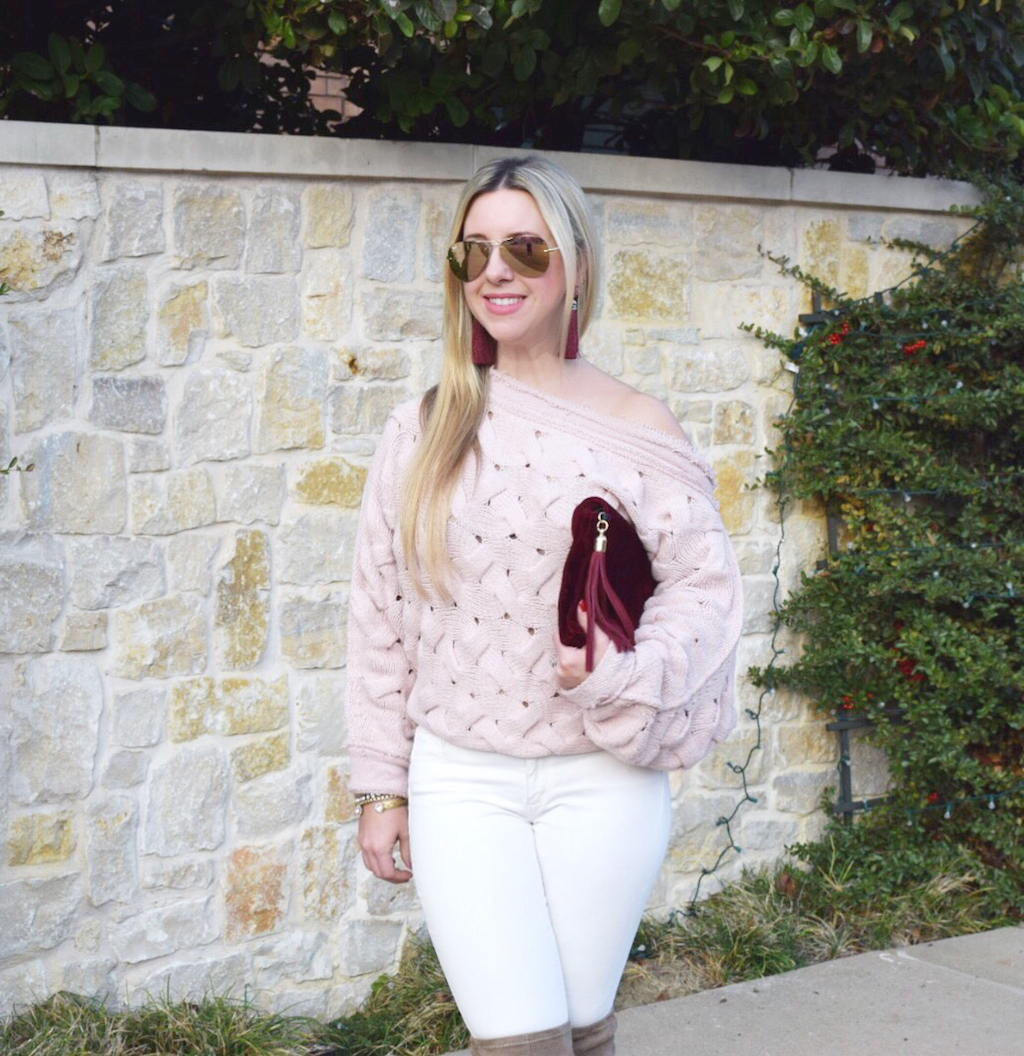 Rose Cable Sweater | Blogger Nicole Kirk