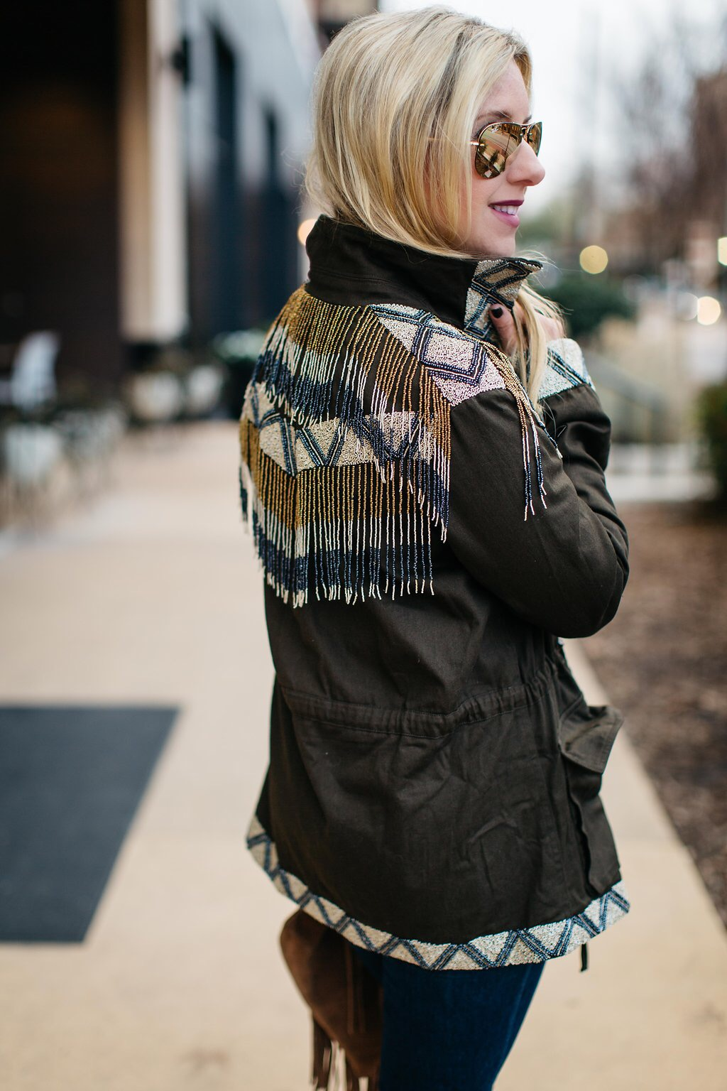Embellished Cargo Jacket