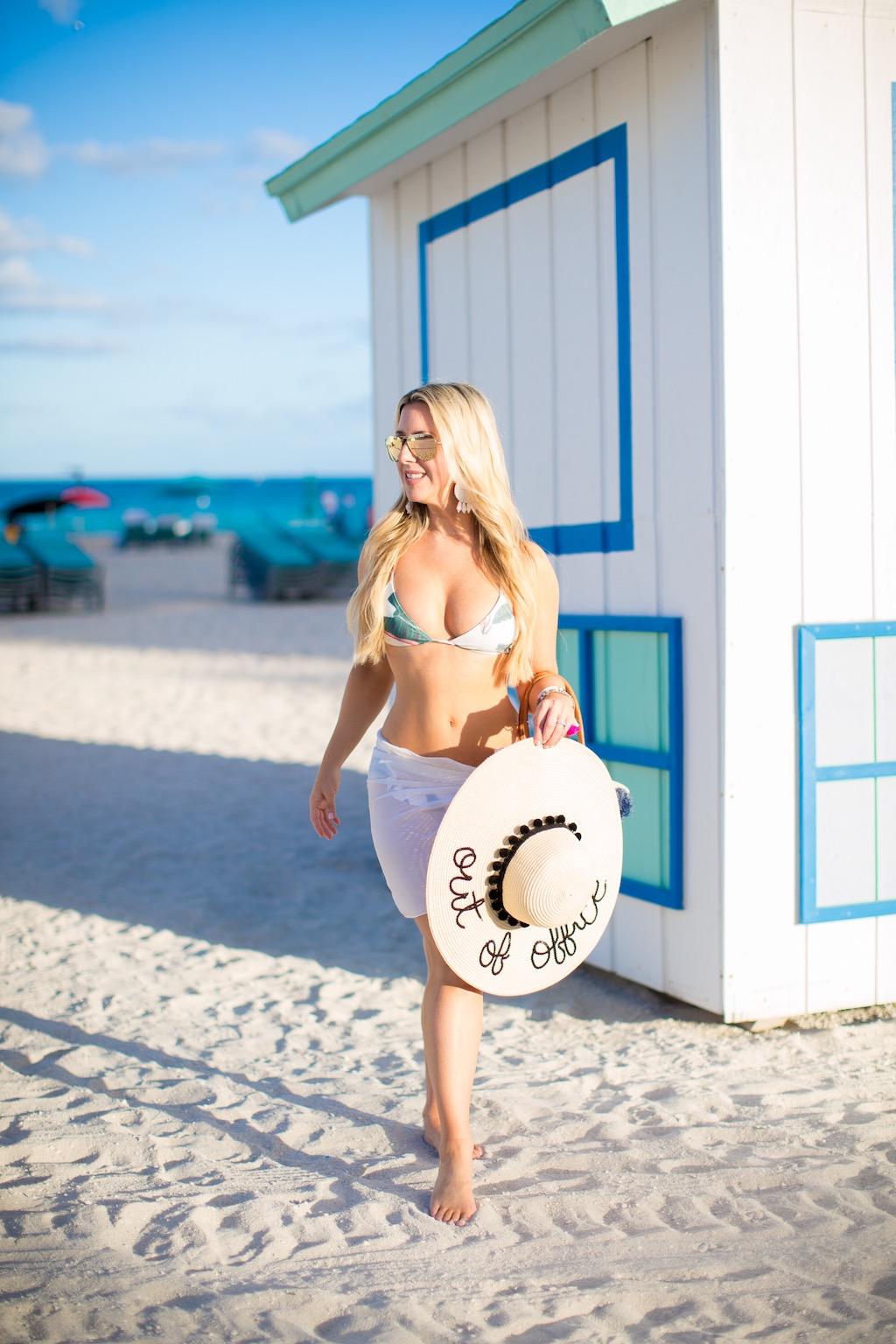 Palm Print Swimsuit | The Darling Petite Diva | Nicole Kirk