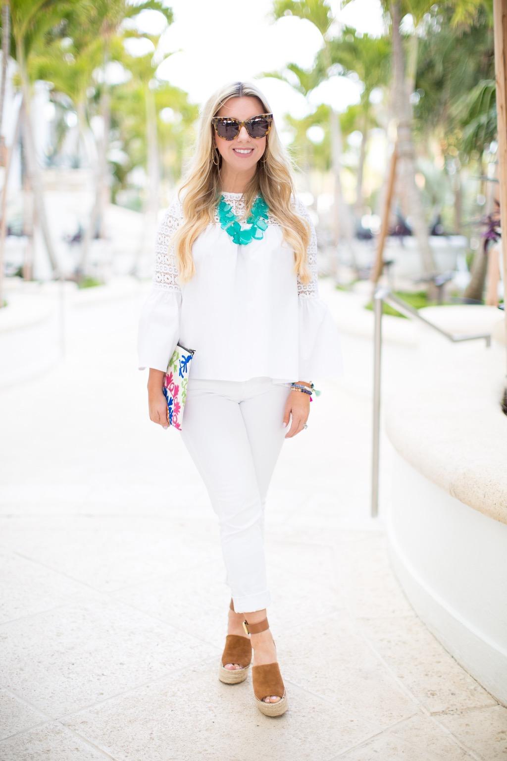 White Bell Sleeve Top   The Darling Petite Diva   Nicole Kirk