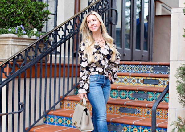 Transitioning Into Spring With This Floral Top