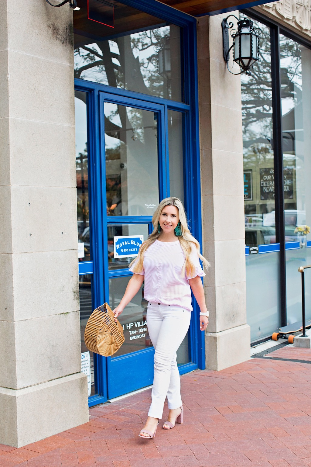 Pink & White Ruffle Sleeve Top | The Darling Petite Diva | Nicole Kirk