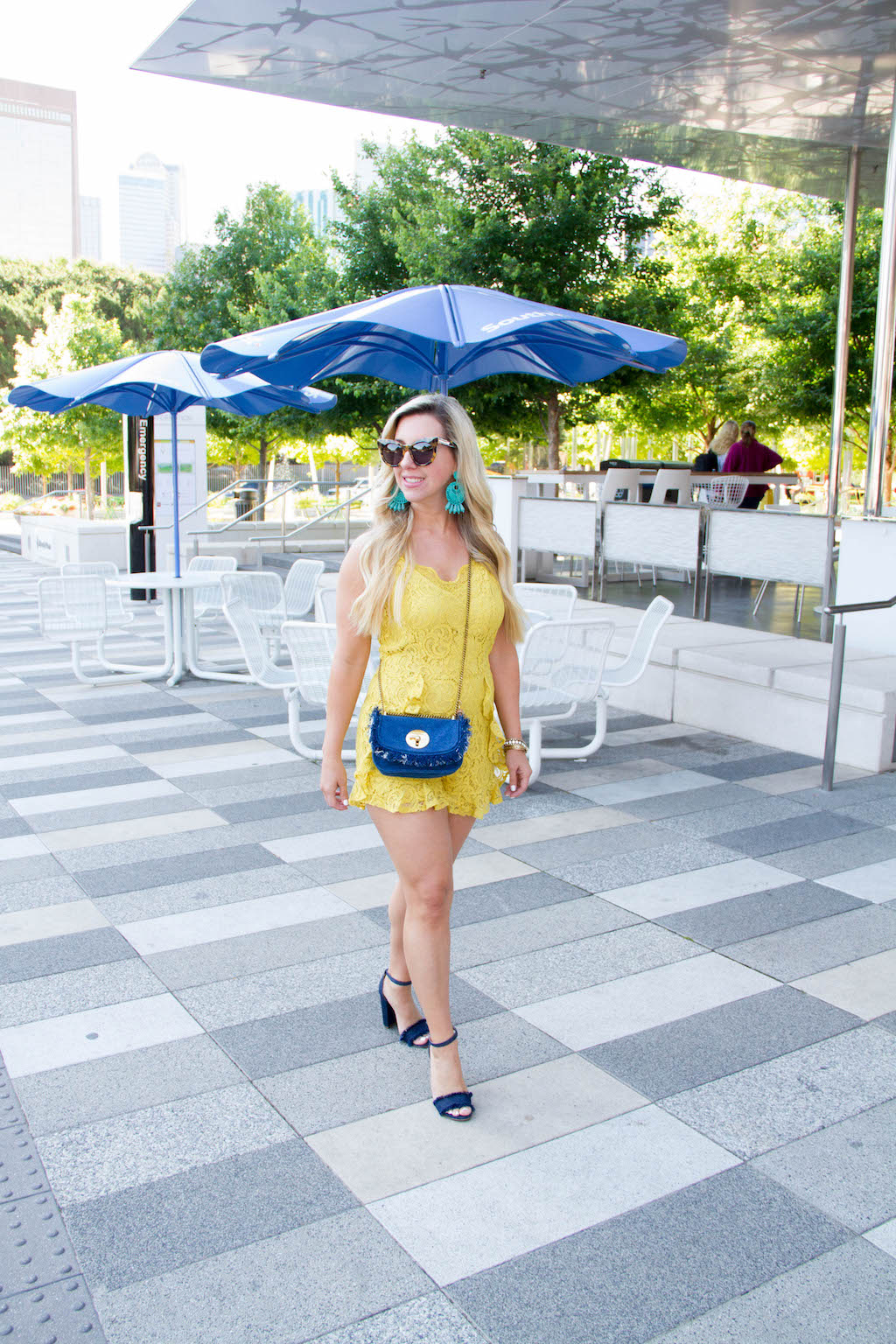 Yellow Lace Romper + 8 Must Haves For Spring   The Darling Petite Diva   Nicole Kirk