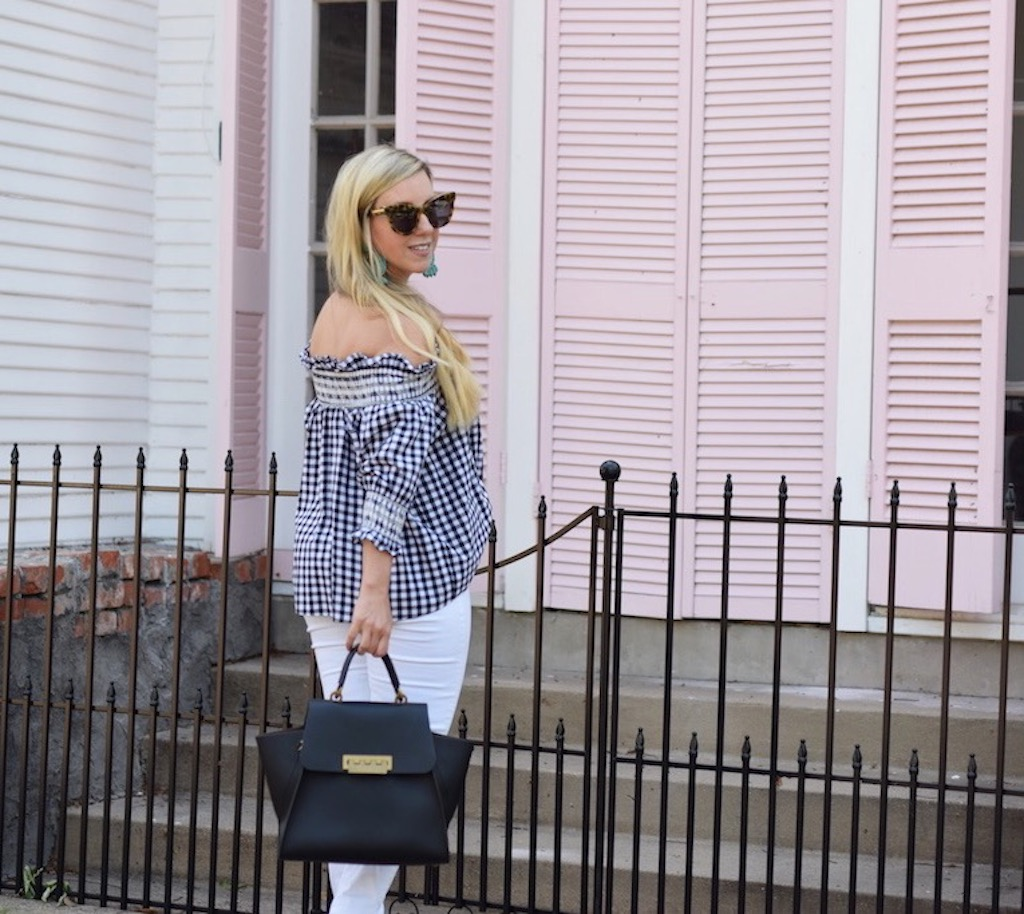 Gingham Check Print Top | The Darling Petite Diva | Nicole Kirk