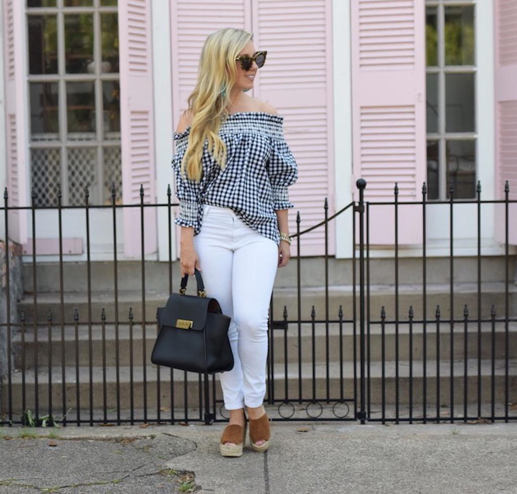 Gingham Check Print Top | The Darling Petite Diva | Nicole Kirk