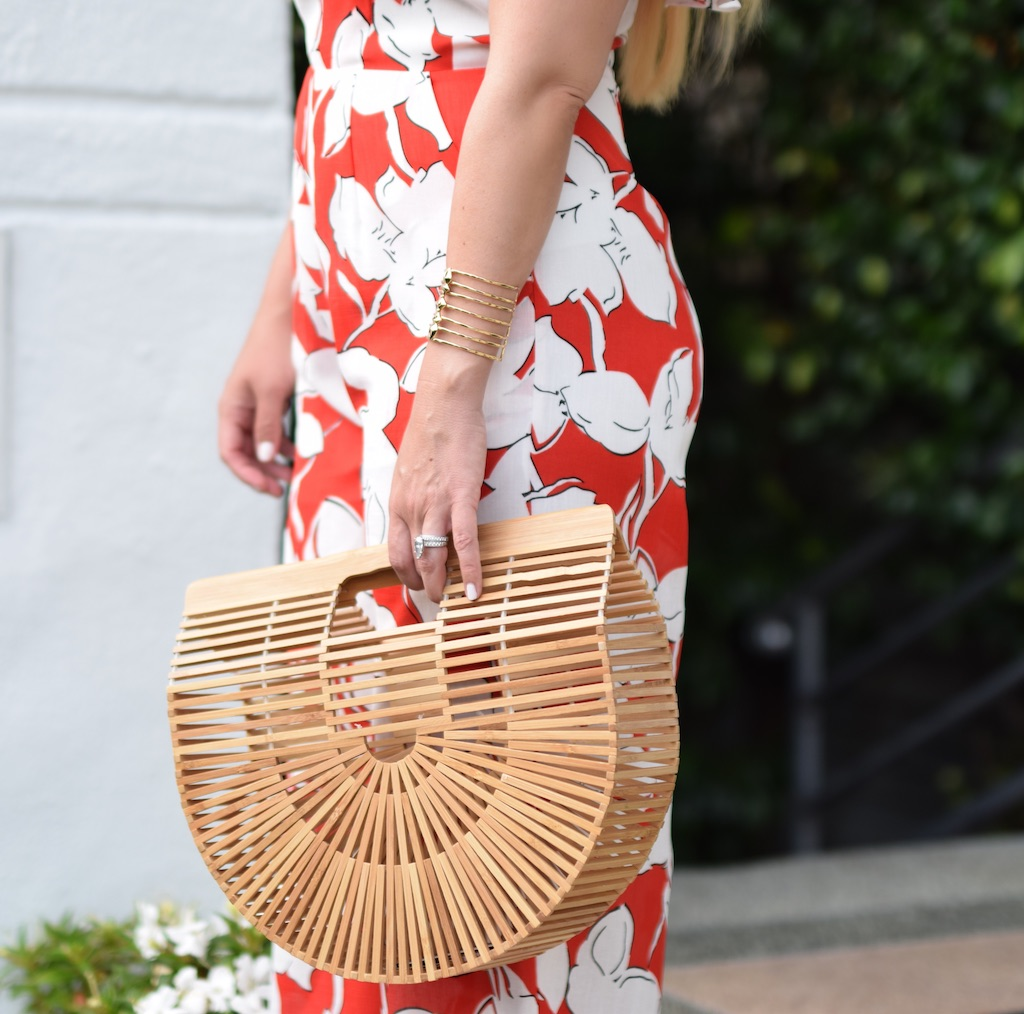 Red Floral Print Jumpsuit | The Darling Petite Diva | Nicole Kirk