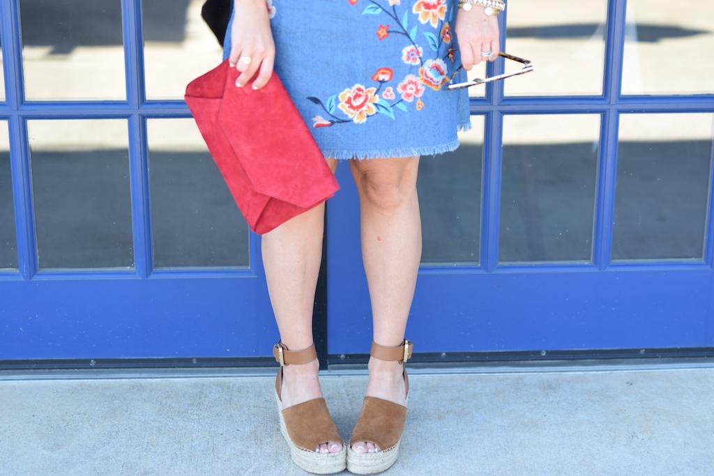 Off The Shoulder Denim Arrangement Dress | The Darling Petite Diva