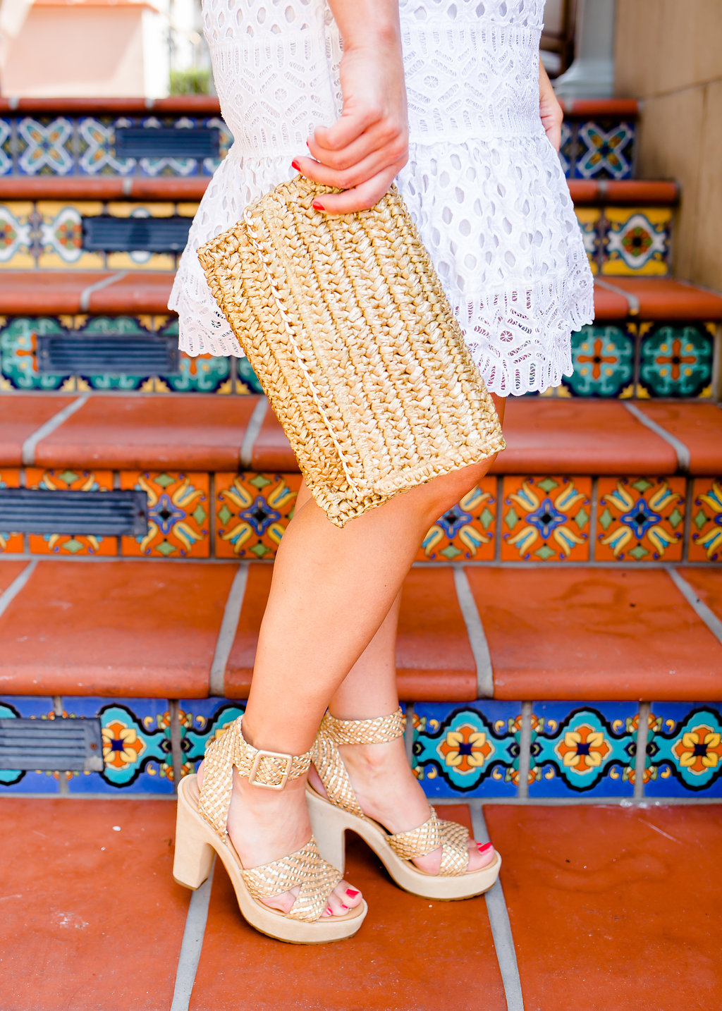 White Eyelet Dress, Neutral Heels, The Darling Petite Diva Blog, Nicole Kirk
