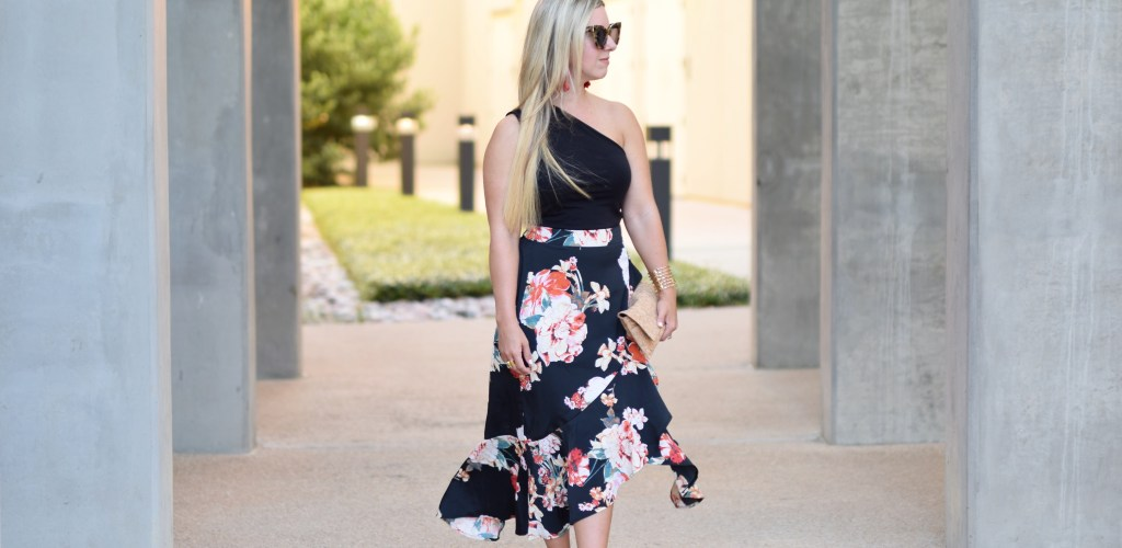 Floral Frills + This Weekend's Plans