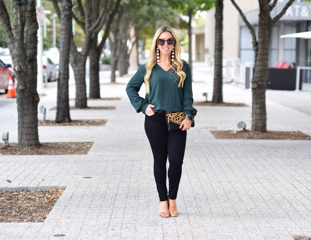 Green With Envy For Fall | Emerald Green Blouse | The Darling Petite Diva