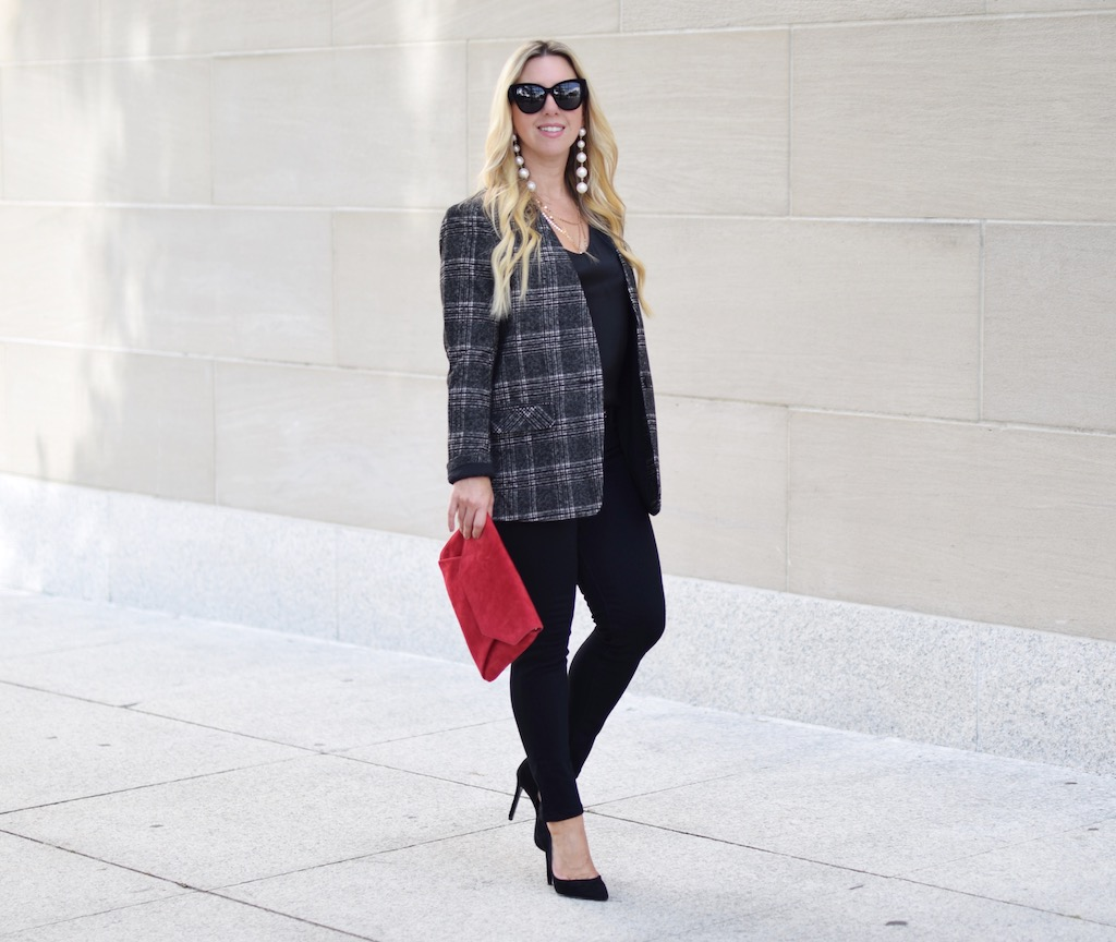 All Business // Plaid Statement Jacket