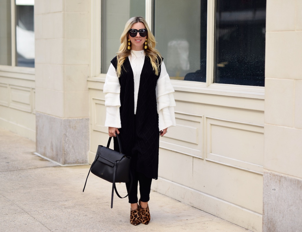 Layering Up With A Sweater Vest | The Darling Petite Diva