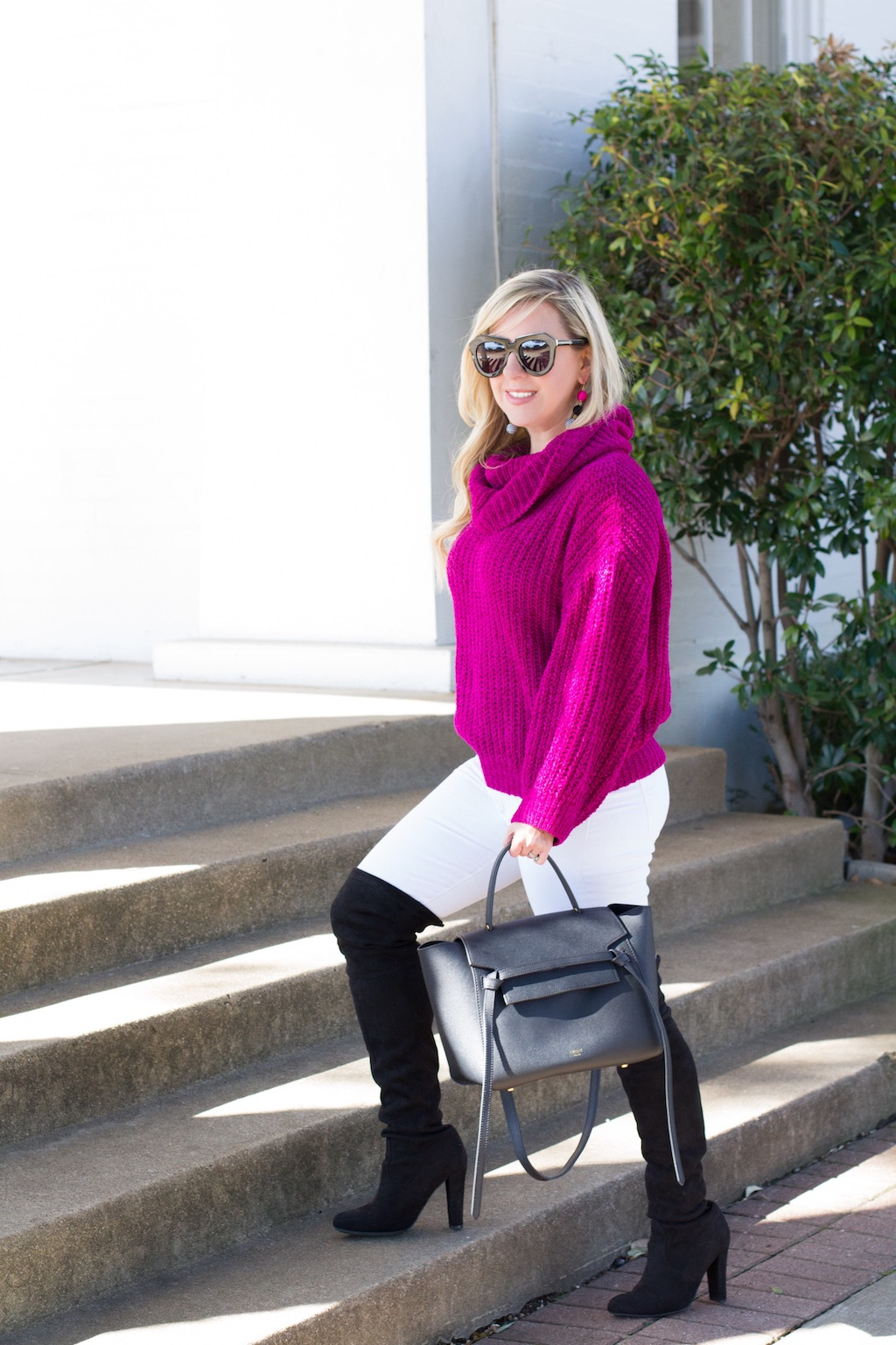 Cozy Chenille Cowl Neck Sweater | The Darling Petite Diva | Nicole Kirk