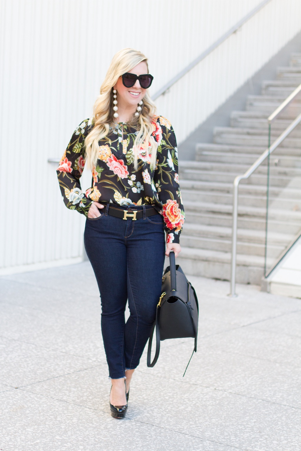 Floral Poppy Bloom Blouse   The Darling Petite Diva